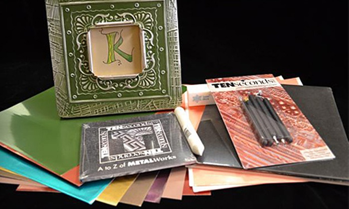 Ten Seconds Studio - North Richland Hills: $99 for Three-Hour Metal-Embossing Class and Start-Up Kit at Ten Seconds Studio in North Richland Hills