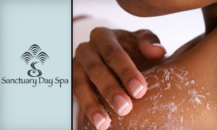 Sanctuary Day Spa - South Central Omaha: $38 for a Dew Drop Exfoliation or Back Treatment at Sanctuary Day Spa (Up to $85 Value)