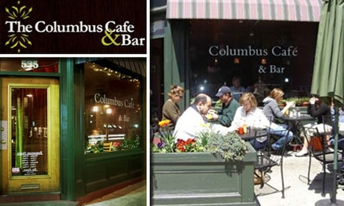 Columbus Cafe - South End: $15 for $30 Worth of Bistro Cuisine and Drinks at Columbus Cafe & Bar