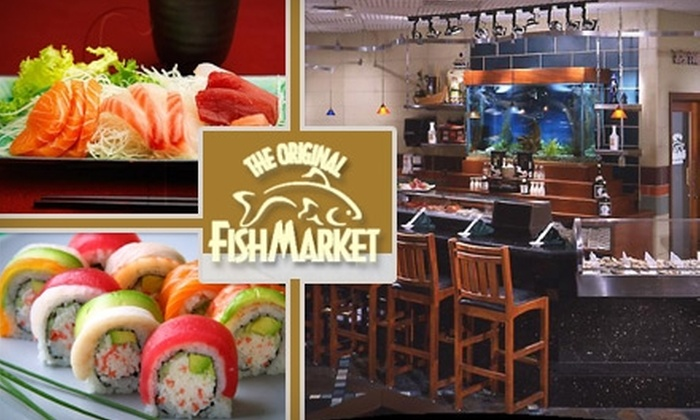 The Original Fish Market - Downtown: $25 for $60 Worth of Sushi, Seafood, and Drinks at The Original Fish Market