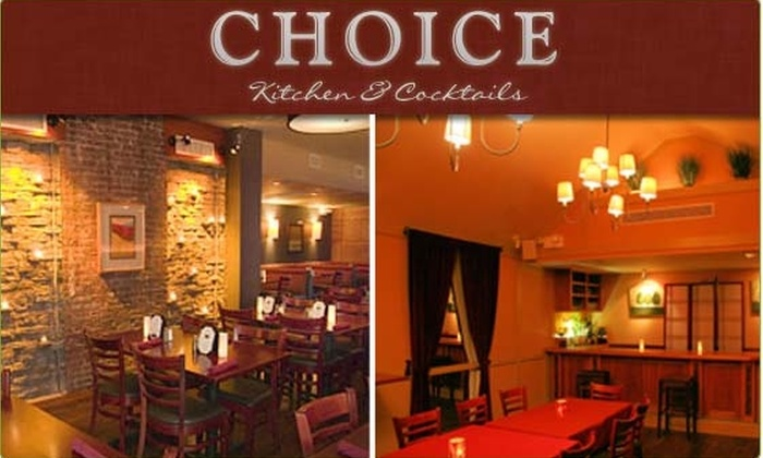 Choice Kitchen - Kips Bay: $10 for a $30 Groupon to Choice Kitchen & Cocktails