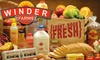 Winder Farms: $20 for $50 Worth of Home-Delivered Groceries Plus Waived Sign-Up and Delivery Fees from Winder Farms ($68 Value)