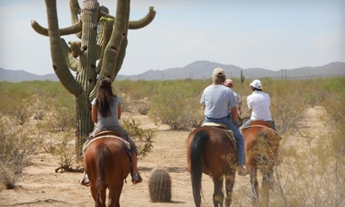 Cocoraque Ranch and Pavillion - Marana: $29 for Trail Ride at Cocoraque Ranch and Pavillion ($65 Value)