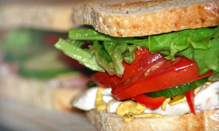 Not Your Mom's Sandwich Shop - Downtown: $8 for Casual Meal for Two with Two Sandwiches and Two Fountain Sodas at Not Your Mom's Sandwich Shop (Up to $16 Value)