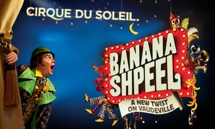 "The Chicago Theatre - Loop: $49 for a Ticket to ""Banana Shpeel"" from Cirque du Soleil at The Chicago Theatre ($82 Value). Buy Here for Tuesday, 12/22, at 8 p.m. Other Dates and Times Below."