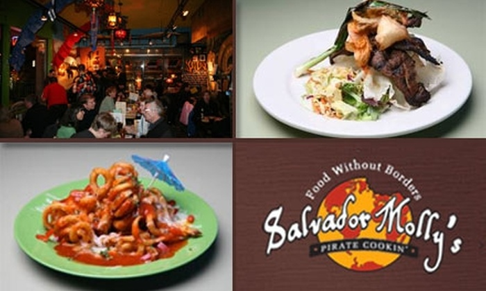 Salvador Molly's - Hillsdale: $15 for $35 Worth of International Dishes and Drinks at Salvador Molly's