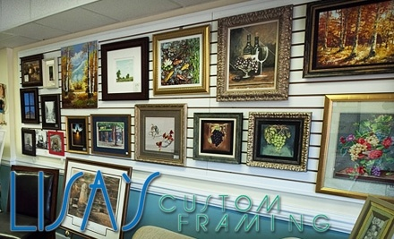 $100 Groupon to Lisa's Picture Framing - Lisa's Picture Framing in Fayetteville