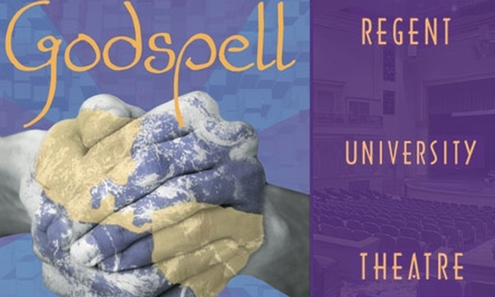 """Regent University Theatre - Virginia Beach: $7 for One Admission to """"Godspell"""" on Friday, April 30, 8 p.m. at Regent University Theatre ($15 Value)"""