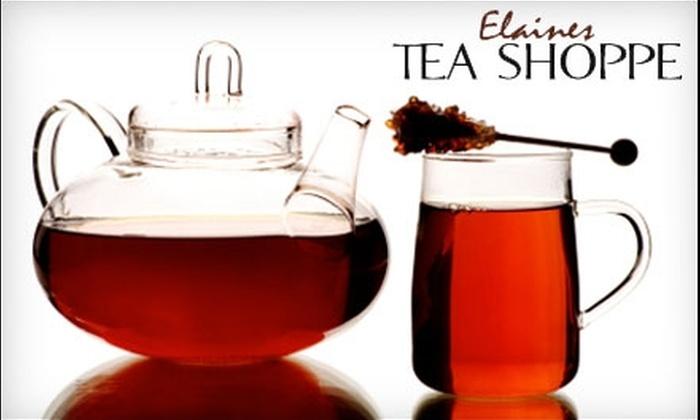 Elaine's Tea Shoppe - Sylvania: $5 for $10 Worth of Tea at Elaine's Tea Shoppe