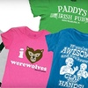 Half Off T-shirts and More from Crazy Dog T-shirts