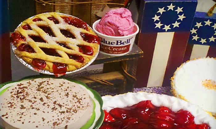 Pie Town Café & Dessert Shop - Houston: $15 for $30 Worth of Café Fare and Valentine's Day Desserts at Pie Town Café & Dessert Shop in Shenandoah