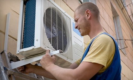 Comfort Heating & Cooling Inc.: Tune-Up and Cleaning for a Ground-Level Air-Conditioning Unit - Comfort Heating & Cooling Inc. in
