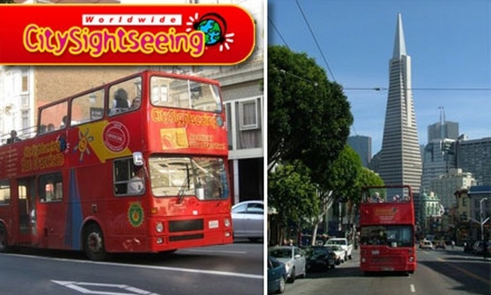 City Sightseeing (see Sightseeing World) - Multiple Locations: $25 for a Trio of Tours Including Golden Gate Loop, Downtown Loop, and a San Francisco Night Tour with City Sightseeing ($50 Value)