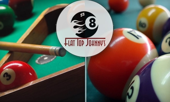 Flat Top Johnny's - Wellington-Harrington: $20 for $40 Worth of Billiards, Comfort Food, and Beers at Flat Top Johnny's