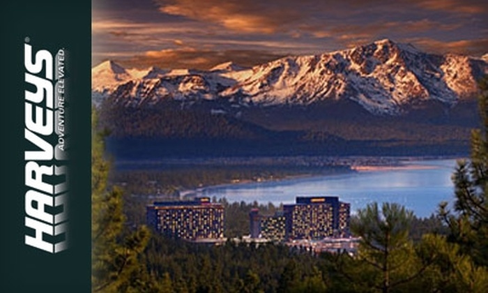 Harveys or Harrah's Lake Tahoe - Multiple Locations: One-Night Stay at Harveys or Harrah's Lake Tahoe (Up to $109 Value)