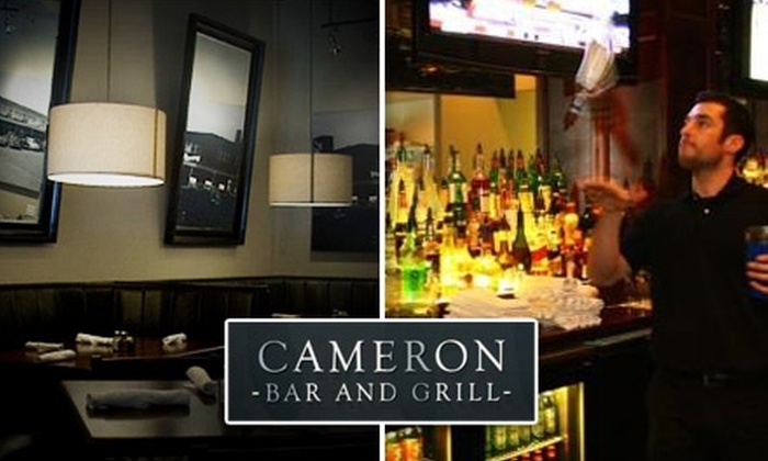 Cameron Bar and Grill - University: $12 for $25 Worth of Food and Drinks at Cameron Bar and Grill
