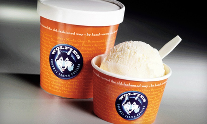 null - Downtown Arts District,Downtown: $5 for $10 Worth of Gourmet Frozen Custard and Coffee Specialty Drinks Frozen at Wolfies Gourmet Frozen Custard in Winston-Salem