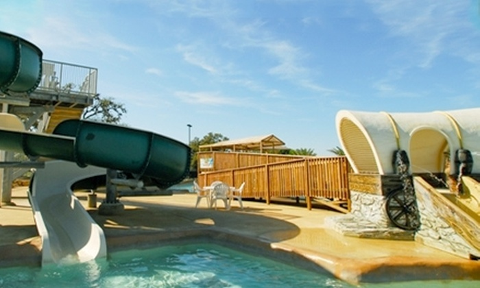 Flying L Guest Ranch - Bandera: Golf or Water-Park Admission at Flying L Guest Ranch in Bandera. Three Options Available.