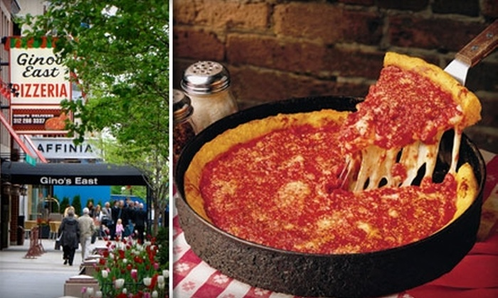 Gino's East - Multiple Locations: $10 for $20 Worth of Deep-Dish Delight at Gino's East