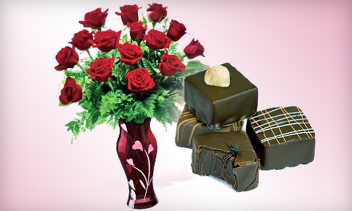 Blooms in Bloom - Multiple Locations: $39 for a Valentine's Day Package with a Dozen Roses and Six Chocolate Truffles at Blooms In Bloom ($78 Value)