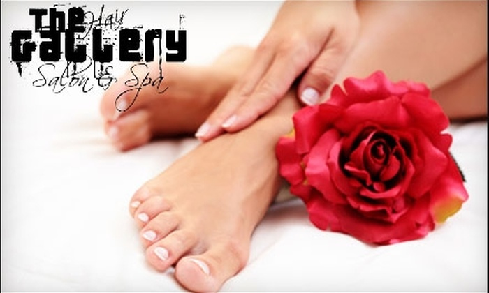 The Hair Gallery Salon and Spa - South Scottsdale: $49 for an Organic Mani-Pedi and Mini-Facial at The Hair Gallery Salon and Spa in Scottsdale