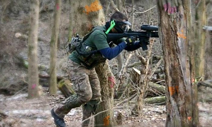 Wacky Warriors - Multiple Locations: $17 for an All-Day Open-Play Paintball Package at Wacky Warriors ($35 Value)