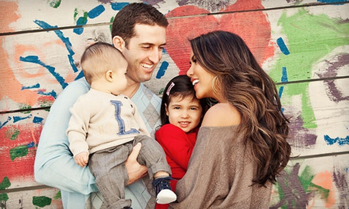 """Townsley Portraits - Multiple Locations: $35 for a Location Family Photo Shoot, DVD Slideshow, and 8""""X10"""" Print from Townsley Portraits ($440 Value)"""