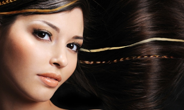 m Studio - Lakeview: Brazilian Wax or Haircut and Feather Extensions at m Studio