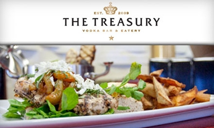 The Treasury Vodka Bar & Eatery - Canora: $15 for $30 Worth of Upscale Dinner and Drinks at The Treasury Vodka Bar & Eatery