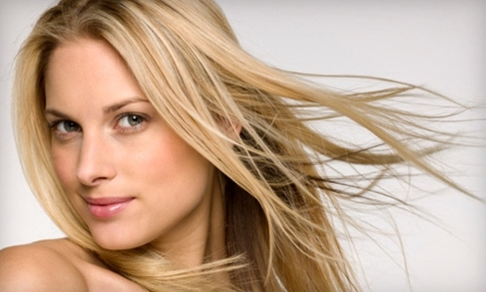 Vibe Spa & Salon - Silverado Ranch: $30 for a Haircut, Deep-Conditioning Treatment, and Style at Vibe Spa & Salon (Up to $75 Value)
