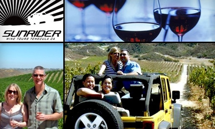 Sunrider Jeep and Wine Tours - Old Town Temecula: $59 for a Winery Tour, Tasting, Lunch, and More with Sunrider Jeep and Wine Tours (Up to $115 Value)