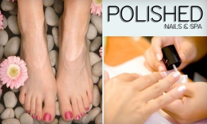 Polished Nails & Spa - Enterprise: $25 Polished Luxe Manicure and Pedicure at Polished Nails & Spa ($50 Value)