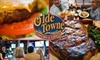 Olde Towne Tavern & Grille - Multiple Locations: $10 for $25 Worth of Hearty American Fare and Drinks at Olde Towne Tavern & Grille