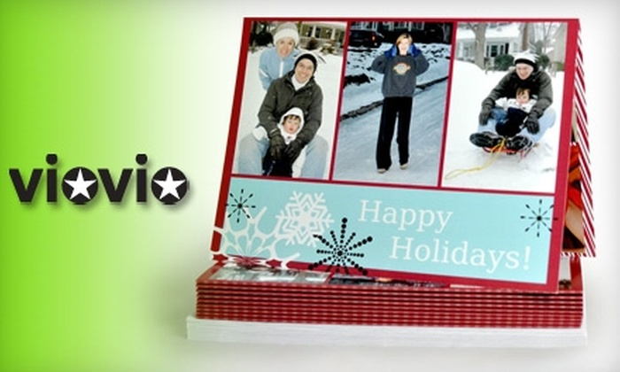 "Viovio: $20 for 20 7""x5"" Frame-Ready Photo Greeting Cards with Envelopes from Viovio ($46 Value)"