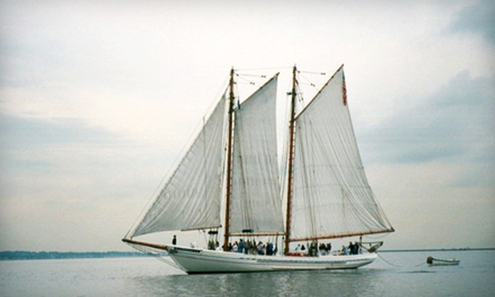 """A.J. Meerwald - Cape May: Interactive Trip on the Schooner """"A.J. Meerwald"""" from the Bayshore Discovery Project in Cape May. Four Options Available."""