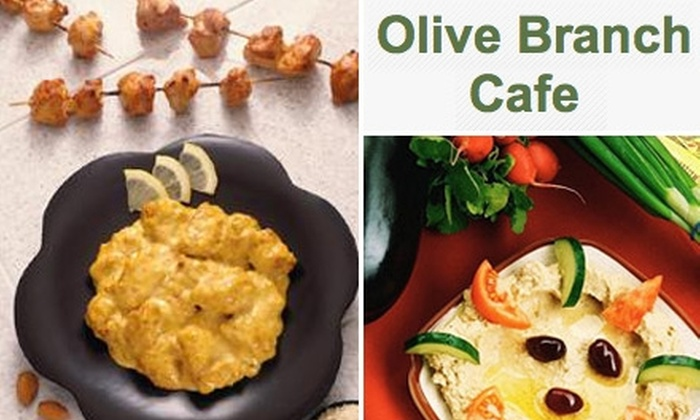 Olive Branch Cafe - Downtown Oklahoma City: $10 for $20 Worth of Mediterranean Cuisine and Drinks at Olive Branch Cafe