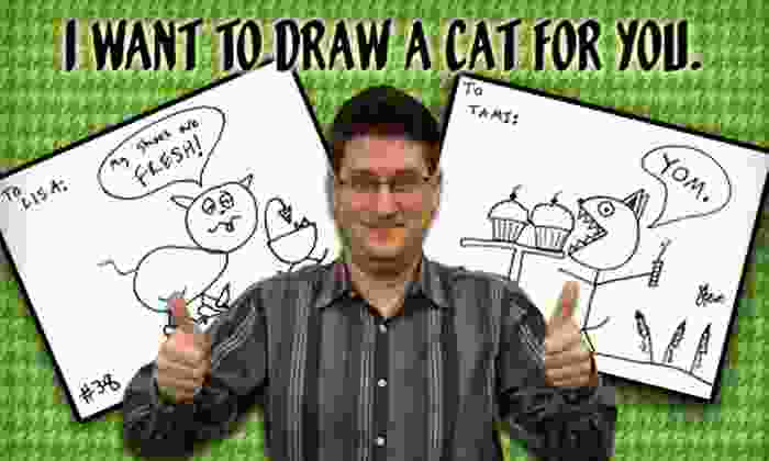 I Want To Draw A Cat For You: $3 for a Hand-Drawn Cat from I Want to Draw a Cat for You ($10 Value)
