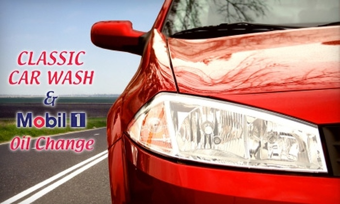 Classic Car Wash and Mobile 1 Oil Change - West Roxbury: Car Wash, Oil Change, or Detail at Classic Car Wash and Mobil 1 Oil Change. Choose From Three Options