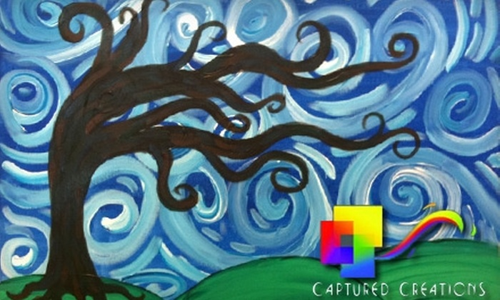 "Captured Creations - Hoover: $11 for a Painting Class Using a 12""x12"" Canvas ($25 Value) or $16 for a Painting Class Using a 16""x20"" Canvas ($35 Value) at Captured Creations in Hoover"