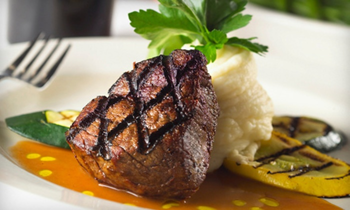 Rumors Steakhouse - Executive Lakes Center: Contemporary American Fare for Dinner or Lunch at Rumors Steakhouse in Lee's Summit (Up to 53% Off). Three Options Available.