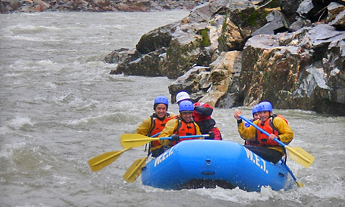W.E.T. River Trips - Lotus: $62 for a Whitewater-Rafting Trip from W.E.T. River Trips in Lotus ($125 Value)
