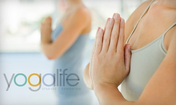 YogaLife Studios - South Edmonton Common: $35 for a Five-Class Pass at YogaLife Studios ($75 Value)