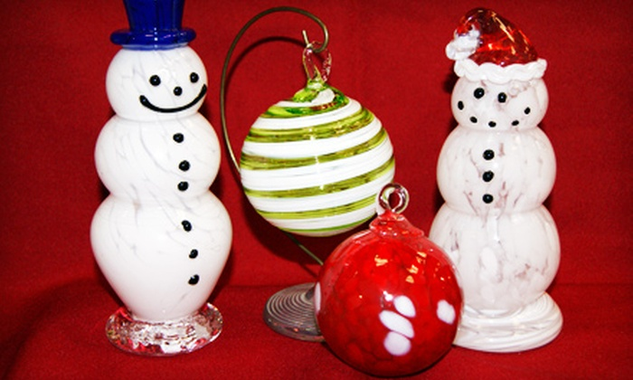 Uptown Glassworks - Renton: Blow-Your-Own-Glass-Ornament or Snowman Activity at Uptown Glassworks in Renton (Up to 54% Off)