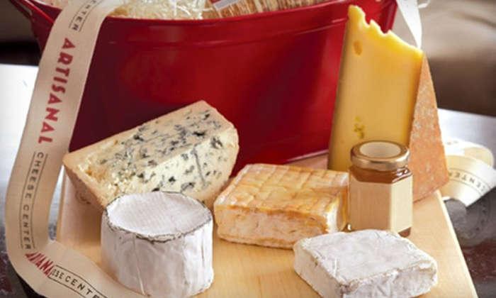 Artisanal Premium Cheese - Midtown West: $75 for a Five-Cheese Gourmet Gift Basket from Artisanal Premium Cheese ($160 Value)