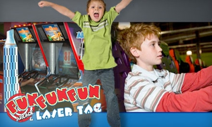 Fun Fun Fun - Douglas Byrd: $15 for 40 Game Tokens, 18 Holes of Miniature Golf, Two Laser Tag Admissions, and 20 Pitches at the Batting Cages at Fun Fun Fun ($30 Value)
