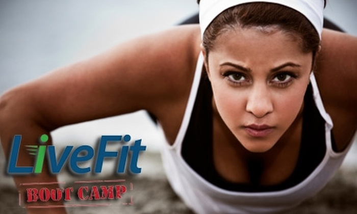 LiveFit Boot Camp - Multiple Locations: $25 for One Month of Unlimited Boot-Camp Sessions at LiveFit Boot Camp ($99 Value)