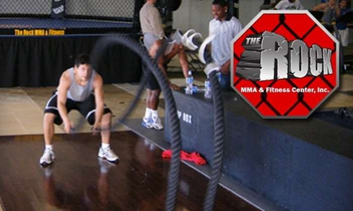 South Beach Bodies - Huntersville: $59 for 12 South Beach Bodies Boot-Camp Classes or Mixed Martial Arts Classes at The Rock MMA & Fitness Center (Up to $300 Value)