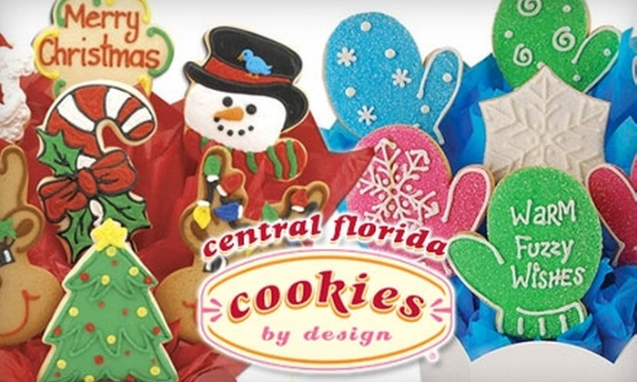 Cookies by Design - Multiple Locations: $15 for $30 Worth of Customized Cookie Bouquets at Cookies by Design