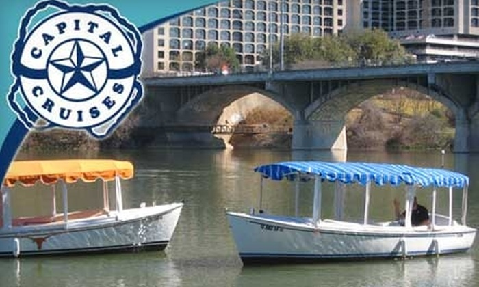 Capital Cruises - Bouldin: $88 for Dinner for Two and Two-Hour Electric Boat Rental from Capital Cruises (Up to $176.98 Value)