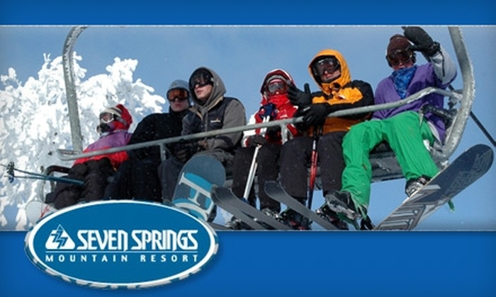 Seven Springs Mountain Resort - Seven Springs: $50 for Two Any-Day, Any-Time Lift Tickets at Seven Springs Mountain Resort